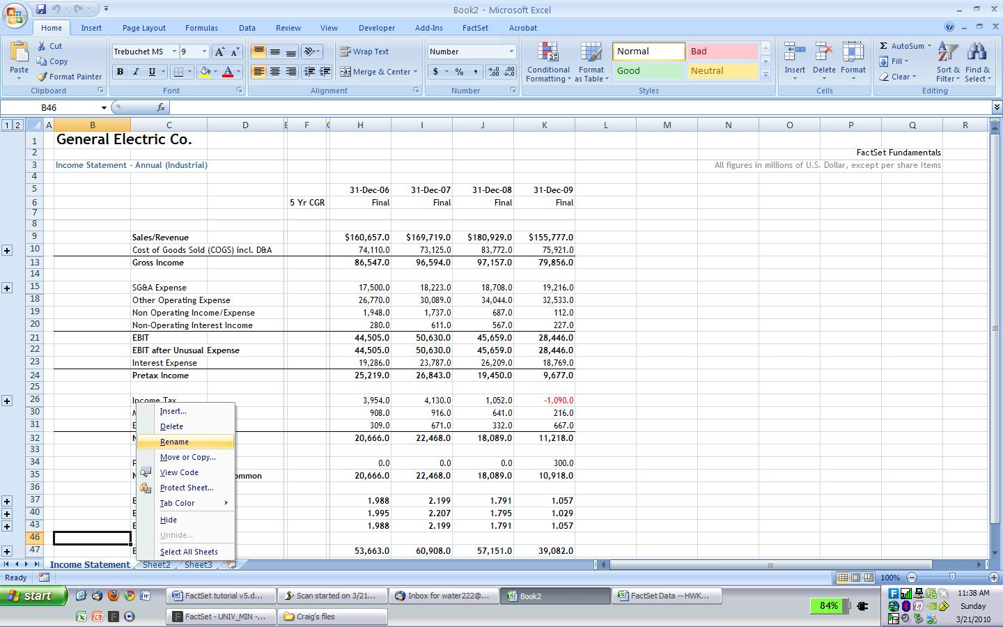 FAMOUS FINANCIAL MODELING WIKI / Company Research: Importing ...